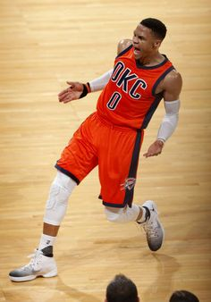 Oklahoma City's Russell Westbrook (0) argues for a foul call during the NBA basketball between the Oklahoma City Thunder and the Charlotte Hornets at the Chesapeake Energy Arena in Oklahoma City, Sunday, April 2, 2017Photo by Sarah Phipps, The Oklahoman