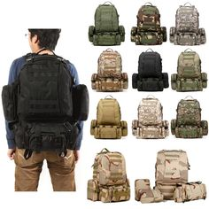 50L Outdoor Tactical Sports Camping Hiking Rucksack Backpack/US STOCK&SHIPPING!! #TacticalSportsCamping