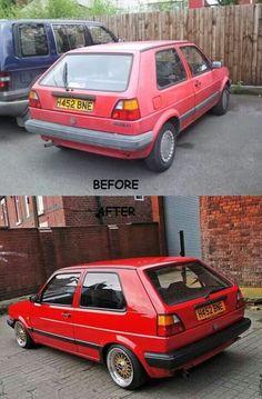 Golf MK2 restored