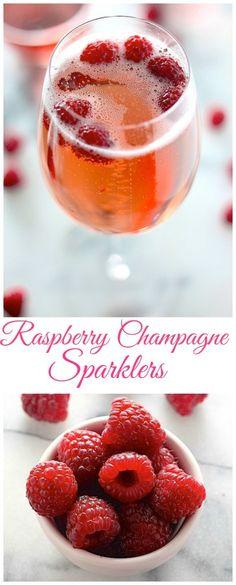 Refreshing Raspberry Champagne Sparklers