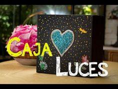 Decoracion Caja de Luz de Corazon con Secreto