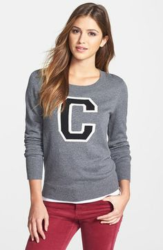 Halogen® 'Letterman' Sweater (Regular & Petite) available at #Nordstrom