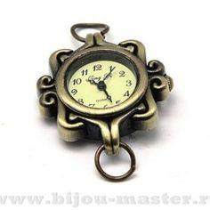 Часы-основа кварцевые под античную латунь 31х26мм орнамент №4 арт.704070