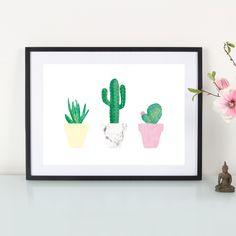 Digitaldruck - Artprint / Kaktusliebe - ein Designerstück von Eulenschnitt bei DaWanda