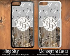 Monogram iPhone 5C 6 Plus Case Browning Gray Grey iPhone 5s iPhone 4 case Ipod 4 5 Custom Tree Camo Deer Personalized Country Inspired Girl