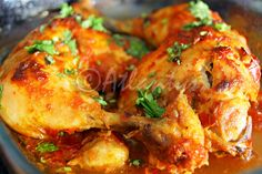 Ingredientes (2 doses)   2 pernas de frango inteiras   1 colher de sopa de massa de pimentão (de preferência caseiro)   2 dentes de alho...