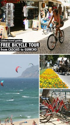 Check this day trip guide from Cascais to Guincho beach and enjoy a free bike ride along an Atlantic cycle lane. James Bond Books, Ride Along, Fishing Villages, Beach Town, Day Trip, Lisbon, Travel Guides, Europe, Tours