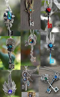 wwhatevver-ampora: steampunk-street: KEYPERS COVE need all of. (With images) Key Jewelry, Cute Jewelry, Jewelery, Jewelry Accessories, Keys Art, Magical Jewelry, Weapon Concept Art, Key To My Heart, Key Necklace
