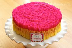 Ruffled Crepe Paper Hot Pink and Golden Yellow by PartyPatisserie, $13.00
