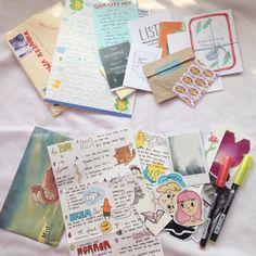 paperartkid:  now, i'm really obsessed with penpals!✉️ ig : nasywaazz