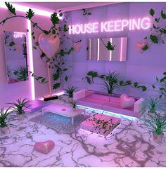 Cheap Home Decor .Cheap Home Decor Neon Bedroom, Room Ideas Bedroom, Bedroom Decor, Hot Pink Bedrooms, Trendy Bedroom, Neon Aesthetic, Aesthetic Room Decor, Aesthetic Outfit, Cute Room Decor