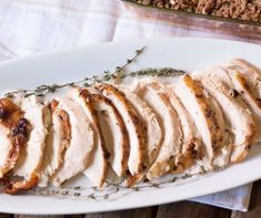 Roasted Bourbon Maple Turkey Breast, perfect for Thanksgiving or family get-together. Turkey has a tasty caramelized bourbon maple glaze.