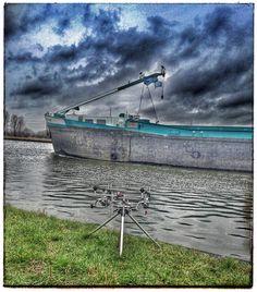 "JUANN BOCCA op Instagram: ""Boat passing by on the channel :) with @joosbmx #fish #Belgium #Carp #nature #channel #water #boat #karper #karpervissen #joy #panorama #clowds #focus #hengelen #vissen #world #photo #photographer #spots #rods #Ambrosia #AmbrosiaPower #AmbrosiaCarpBaits #openwater #fishlife #torque #winter #setup #travel"""