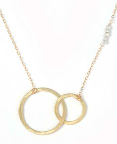 Lucy Dalton Double Infinity Sterling Silver and Gold Vermeil Necklace