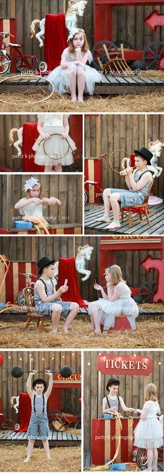 Circus Minis | Imagination Session | Madison & Ryan | Raeford, NC Child Photographer | PATTY K PHOTOGRAPHY