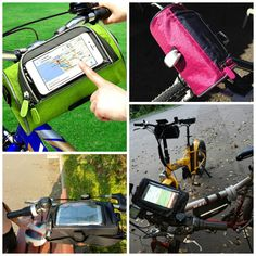 This is a great waterproof phone bag for different type of bikes. Makes it easy to activate phone touch screen, and secures your phone right on top, so you can glance down at it easily.   SHOP HERE: https://www.opovoo.com/products/waterproof-touch-screen-cycling-handlebar-phone-bag-case
