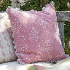 Reverse Lullaby Cushion - Rose | Susie Watson Designs