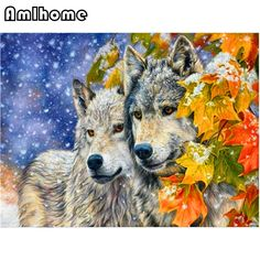 3D DIY Diamond Painting Cross Stitch Two Wolves Series Crystal Diamond Embroidery Needlework Full Diamond Set Decor HC0486 basement -- AliExpress Affiliate's buyable pin. Clicking on the image will lead you to find similar product on www.aliexpress.com