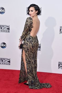 Demi Lovato at the AMAs red carpet November 2015