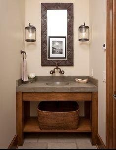 Concrete Vanity for Bathroom. Visit NuConcrete.com for all Concrete Design & Installation.
