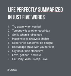 If You Need To Summarize Life In Five Words, What Would It Be? What are your five words? Prayer Quotes, Wisdom Quotes, Quotes To Live By, Life Quotes, Dream Quotes, Happiness Quotes, Encouragement Quotes, Quotes Quotes, Relationship Quotes