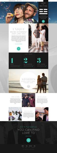 Three Day Rule - Dating Website by metajive , via Behance | #webdesign #it #web #design #layout #userinterface #website #webdesign < repinned by www.BlickeDeeler.de | Take a look at www.WebsiteDesign-Hamburg.de