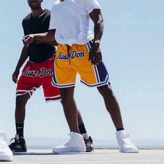 Street Basketball, Basketball Pants, Lakers Shorts, Just Don, Casual Pants, Cheer Skirts, Street Wear, Athletic, Mens Fashion