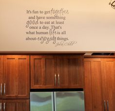 Julia Child Quote Wall Decals from www.tradingphrases.com #decal #walldecals #decals
