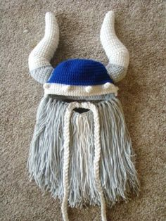 Viking Beard Hat Pattern by Crafts by Starlight