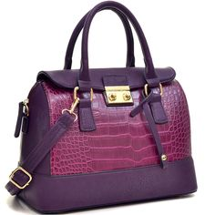 Simply Sonya by SMS | Fold Over Croc Satchel w/Removable Shoulder Strap | Online Store Powered by Storenvy