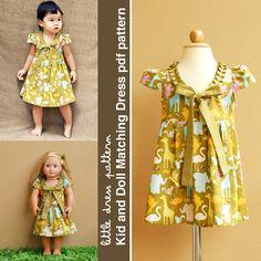 Stella Kid and Doll Matching Dress  PDF by littledresspattern, $9.00