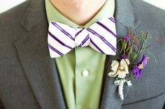 Bow tie and buttonaire