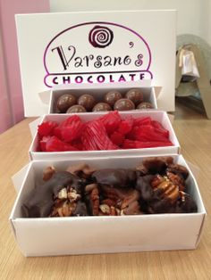 """""""Owned by Marc Varsano. My standard order is a box of assorted chocolates (turtles, malted milk-balls) and a box of the kookaburra licorice."""""""