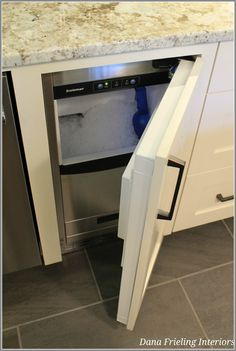 built-in ice machine to replace trash compactor