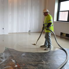 Level-Right is a self-leveling cementitious floor underlayment