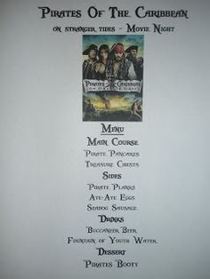 Disney Movie Nights - Pirates of the Caribbean