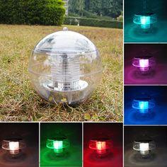 À prova d' água Solar Muda Cor LED Flutuante