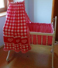altes-Kinderbett-Stubenwagen-RADER-Set-Babybett-Babywiege-Wiege-Dachbodenfund
