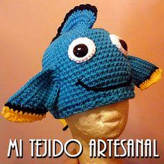 """DORY, el famoso pecesito de """"BUSCANDO A NEMO"""". Infinidad de creaciones tejidas al crochet, para damas, bebés, niños, adolescentes y hombres. Realizo diseños personalizados por encargo."""