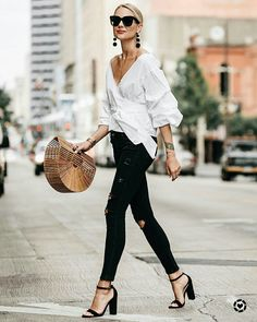 Trendy Style Casual Chic H&m Style Désinvolte Chic, Style Noir, Casual Chic Style, Mode Style, Classic Chic, Trendy Style, Womens Fashion Casual Summer, Black Women Fashion, Womens Fashion For Work