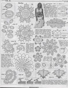 lace crochet fashion in crochet magazine Filet Crochet, Crochet Motifs, Freeform Crochet, Crochet Diagram, Crochet Chart, Thread Crochet, Crochet Doilies, Crochet Flowers, Crochet Lace