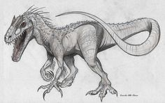 indominus t-rex in drawing form - Google Search