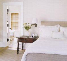 Elegant bedroom in Barefoot Contessa's Barn - Ina Garten - House Beautiful Serene Bedroom, One Bedroom, Beautiful Bedrooms, Feminine Bedroom, House Beautiful, Summer Bedroom, Extra Bedroom, White Bedroom, Bedroom Themes