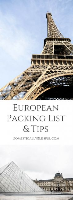 This European Packing List & Packing Tips will help you organize & pack everything you need without overpacking for your European adventure.    travel tips   vacation tips   travel to Europe   Europe trip   European vacation   Paris   Barcelona   Rome   France   Spain   Italy