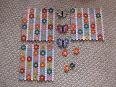 Tiny Butterfly Garden Hexagon Quilt | Designed by me and mad… | Flickr