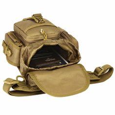 0bd858c6b9a Tactical EDC Waist Belt Pack Waterproof Nylon Travel Bag Running Pack  Motorcycle Rider Thigh Pack Waist Belt Pack