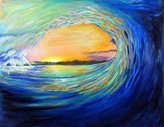 Image result for surfing paintings