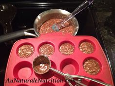 Crunch cups!  They're like a paleo version of a Crunch bar.  YUM!  from www.AuNaturaleNutrition.com