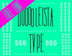Dooodleista Type is available for free download!...WhyDoodle? This question can be answered with 2 simple words. For Fun. This is the first and most important rule for doodle! Have fun with it!*