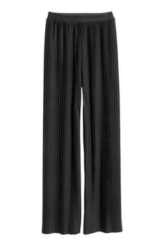 Pleated pull-on trousers
